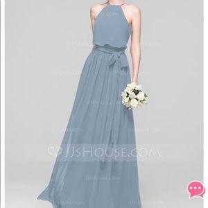 JJ's House- Steel Blue Bridesmaids dress